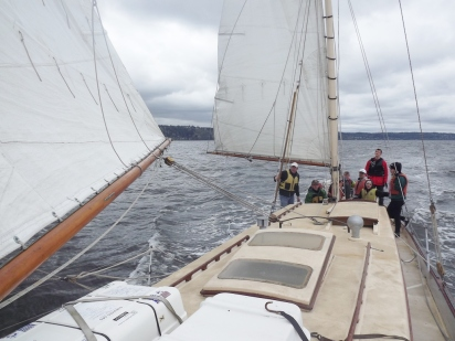 Peak Crew sailing North to Port Gardner Bay